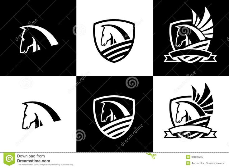 Vector Logo With Horse Head Icon Royalty Free Stock Photo - Image: 30833595