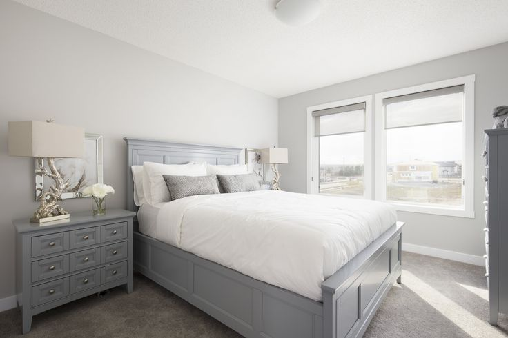 Owners bedroom in Creations by Shane Homes Samara Showhome in Midtown in Airdrie #bedroom #masterbedroom