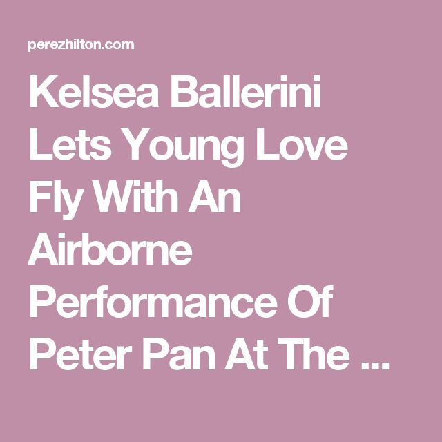 Kelsea Ballerini Lets Young Love Fly With An Airborne Performance Of Peter Pan At The 2016 CMA Awards! | PerezHilton.com