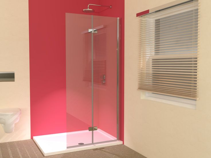 Folding Hinged Wet Room Shower Screen