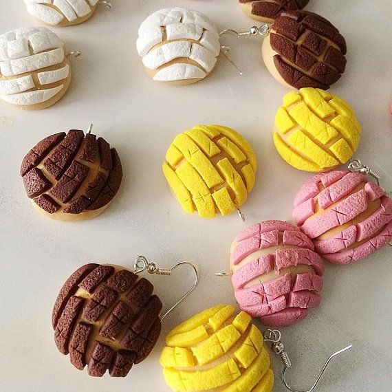 Mexican Concha Polymer Clay Pan Dulce por SweetCraftJewelrySA