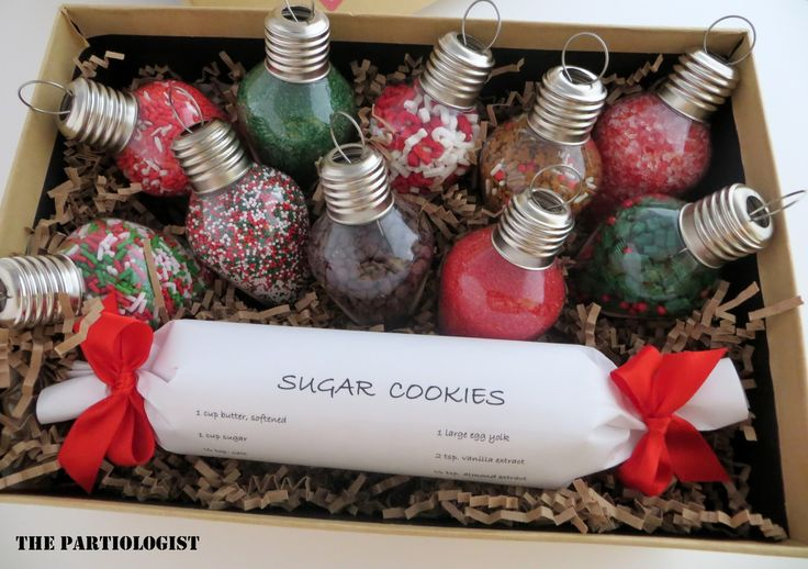 A Bright Idea! Tree decorating kit- bake some cookies and decorate for Christmas! maybe throw in some mugs and cocoa too