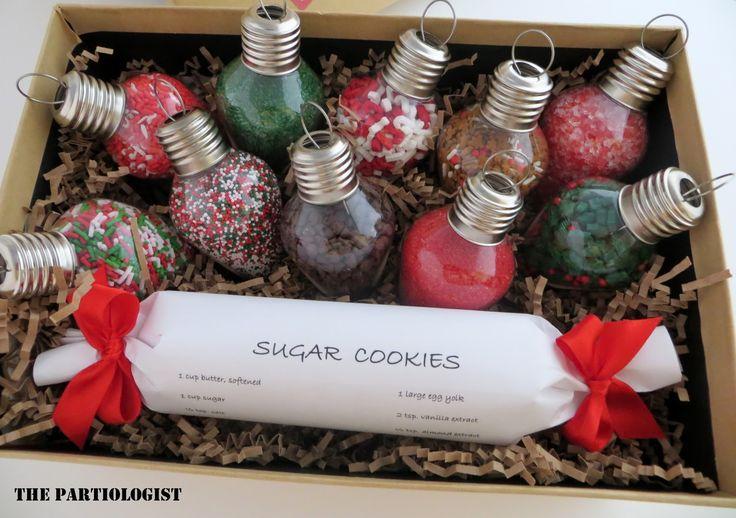 The Partiologist: Christmas light sugar cookie gift idea for teachers