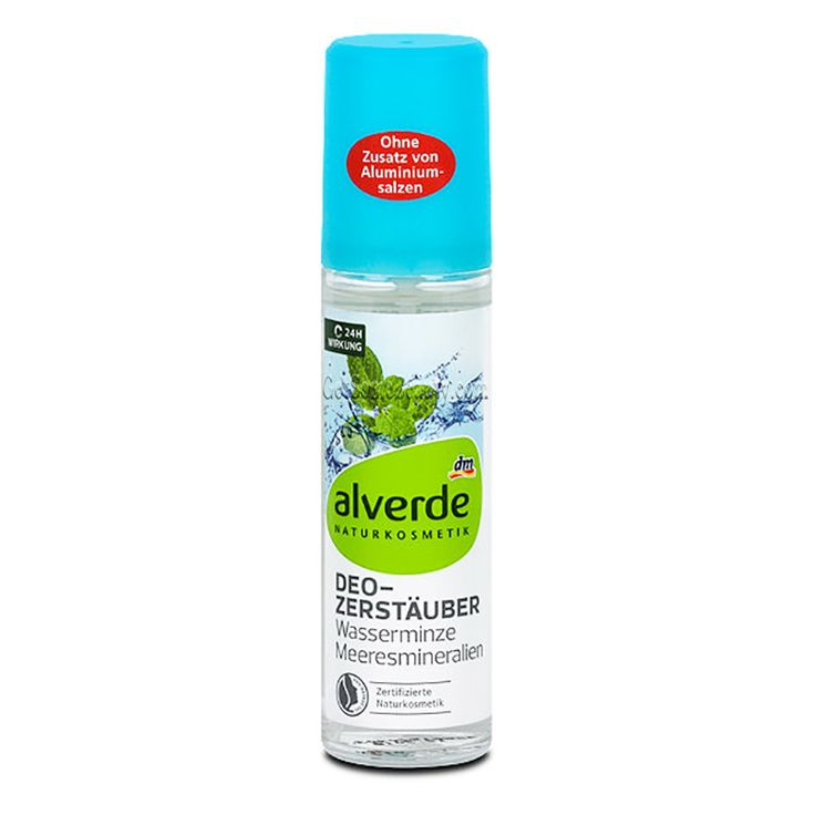 ALVERDE Natural Cosmetics Deodorant Spray Water Mint And Sea Minerals 75 ml | Get Some Beauty