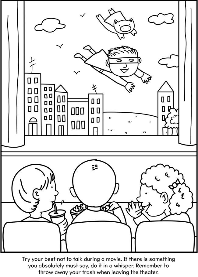 coloring pages for good manners-#17