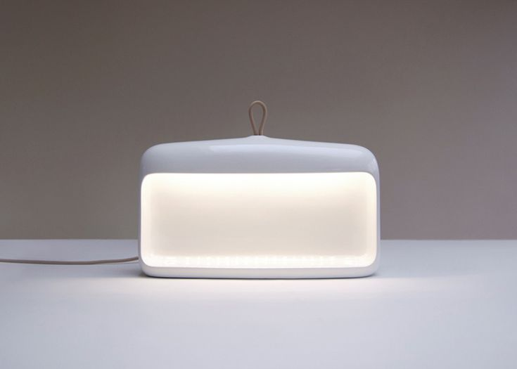 Naica ceramic lamp by D. Debiasi & F. Sandri for Ligne Roset in 2013. Inspired by the old-fashioned miners lamps. Also available with a Red interior.