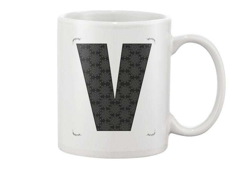 V letter - Mug