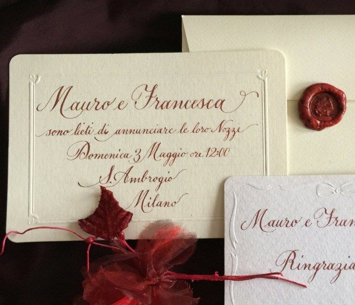 Wedding Invitations Sweet Red