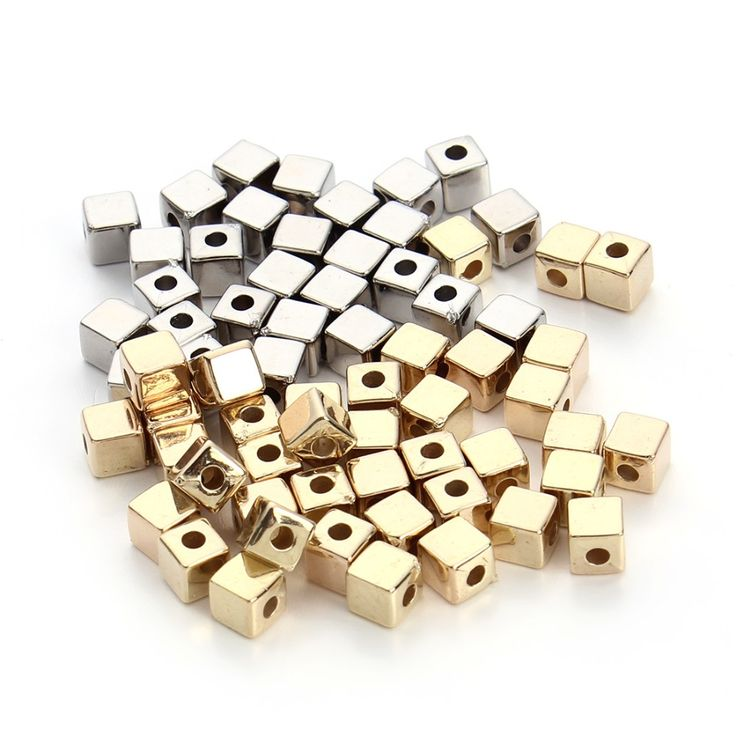 Aliexpress.com: Comprar 200 unids/lote 3/4/5mm Oro/Rodio Cúbicos Granos de la Semilla de Color CCB (no de Metal) Loose Espaciador de Los Granos con el Agujero de 1.5mm para La Joyería Que Hace de seed beads fiable proveedores en SAUVOO Offcial Store