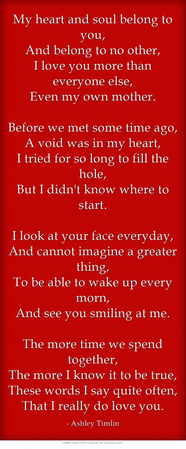 The first poem I made for my girlfriend! ^_^ Soulmate