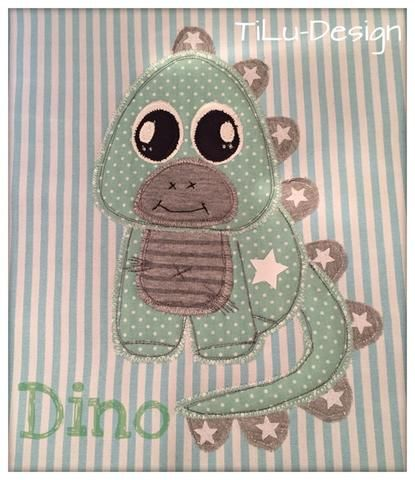"Applikationsvorlage - ""Dino"" - Dinosaurier - Kinder - Applizieren - Applikation - TiLu Design"