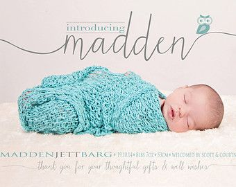 Thanks for being awesome Birth Announcement Photo by babybaloo