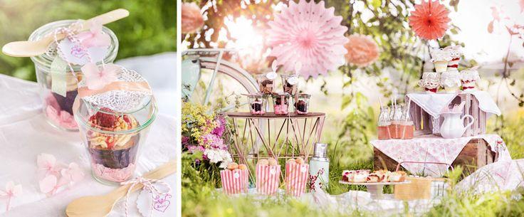 Süße #Picknick-Ideen, #romantisches Picknick im #Grünen, sweet #picnic,