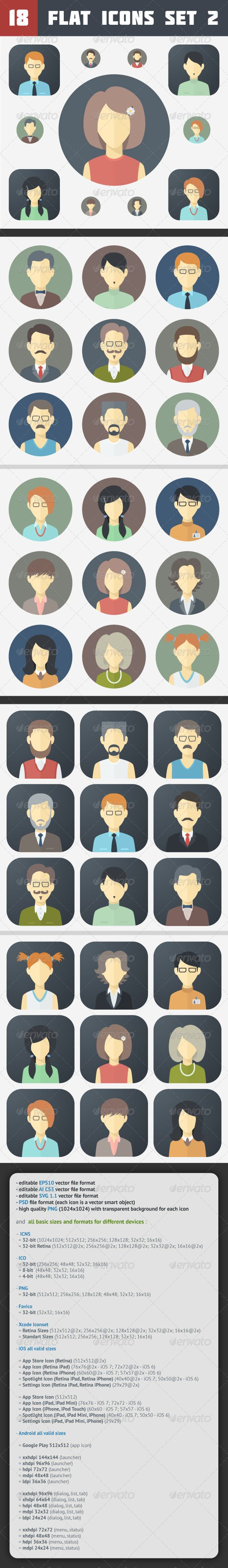 Minimalistic Flat Faces Icons | Buy and Download: http://graphicriver.net/item/minimalistic-flat-faces-icons-set-2/7093110?WT.ac=category_thumb&WT.z_author=MastakA&ref=ksioks