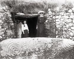 Mother and Daughter at the ancient site of Newgrange, in County Meath c. 1910