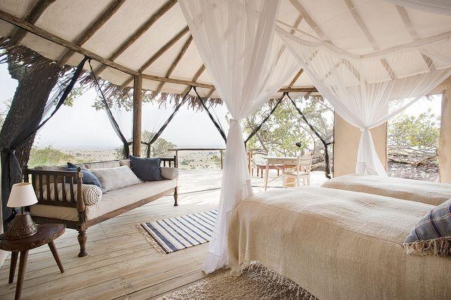 Lamai Serengeti bedroom interior by Nomad Tanzania InHouse Library, via Flickr