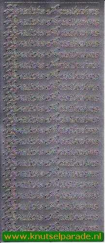 Starform sticker silber herzliche anteilnahme 420 - Sticker sheets