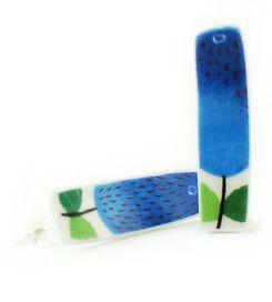 Earrings Prunus - Earrings manufactured from recycled porcelain.