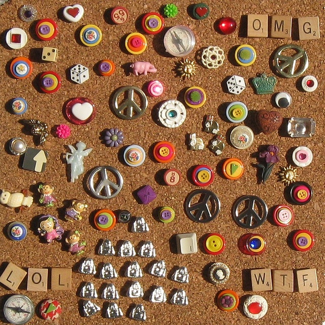 altered push pins, what an adorable idea!!!