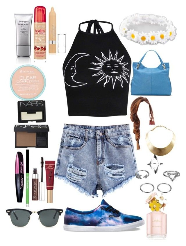 """Casual spring/summer hangout"" by zoeisqueen ❤ liked on Polyvore featuring Boohoo, Vans, Full Tilt, Vince Camuto, GUESS, Marc Jacobs, Bourjois, L'Oréal Paris, Rimmel and NARS Cosmetics"