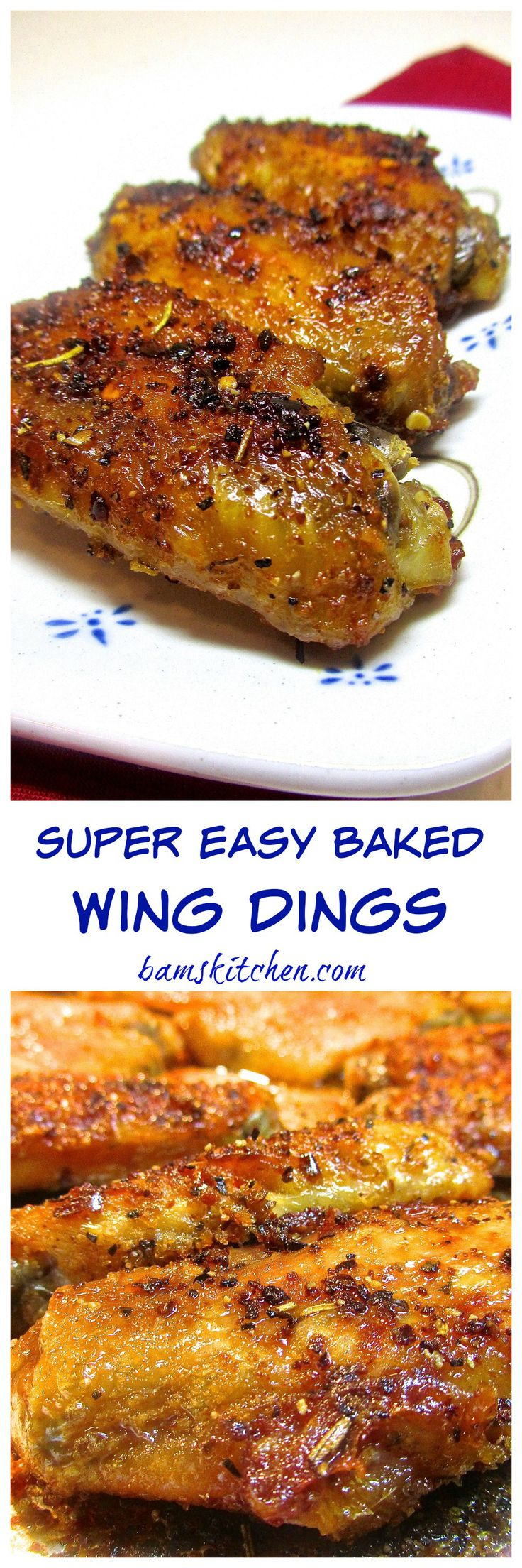 Super Easy Baked Wing Dings - Bam's Kitchen