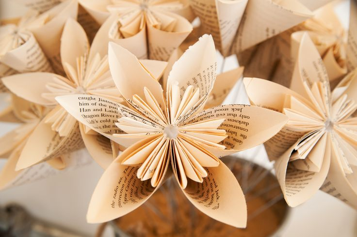 rustic wedding, handmade paper flowers, table centre piece, silver tins