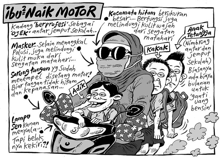 Mice Cartoon, Kompas Minggu - 22 November 2015: Ibu-ibu Naik Motor