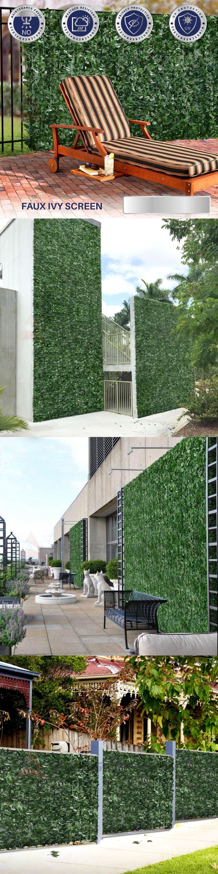 Privacy screen for chain link fence ebay - Fence Panels 139946 6 Ft H Artificial Faux Ivy Leaf Privacy Fence Screen D Cor Panels