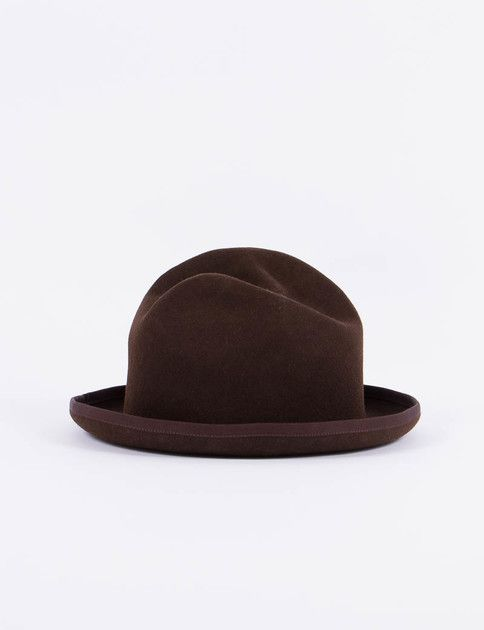 …RESEARCH Brown Homburg Hat