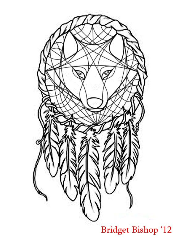 wolf dreamcatcher drawing related - photo #16
