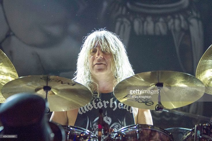 Musician Mikkey Dee performs onstage with Motorhead at Club Nokia on April 11, 2014 in Los Angeles, California.  (Photo by Daniel Knighton/WireImage)