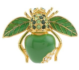 Joan Rivers Big Apple Bee pin - QVC.com