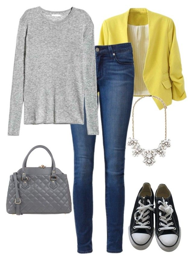 """Office casual #108"" by amooshadow on Polyvore featuring Converse, Tuscany Leather, Paige Denim, Forever 21 and 108"