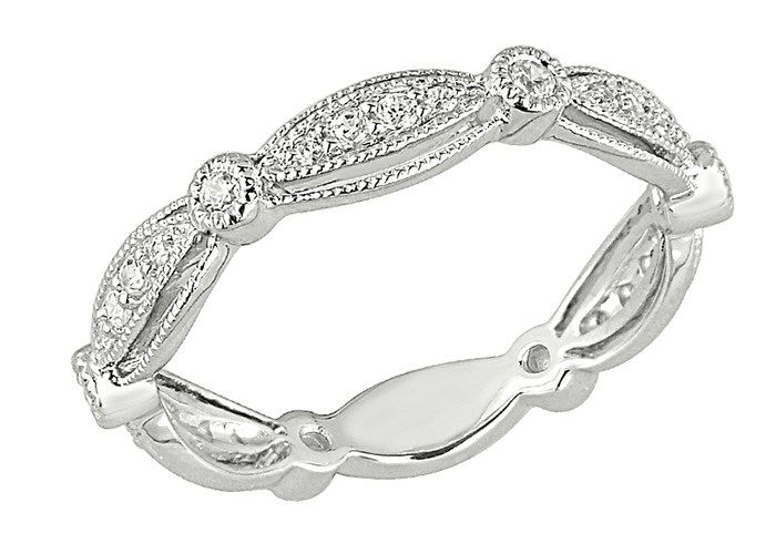 Popular Platinum Wedding Jewelry Trends: #12. Platinum Bezel Set Diamond Band; #engagementring