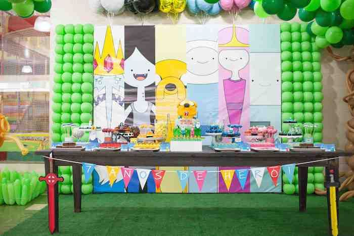 Adventure time themed birthday party decor ideas for Decoration ideas 7th birthday party