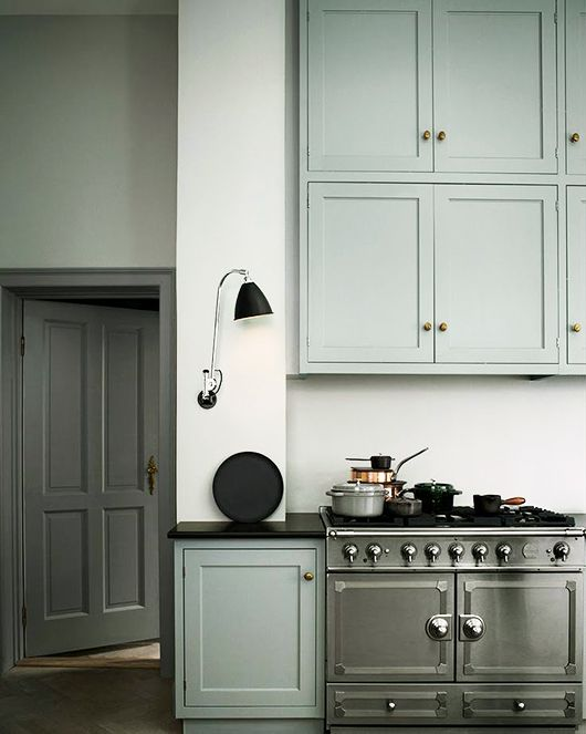 chic mint green upper and lower kitchen cabinets / sfgirlbybay