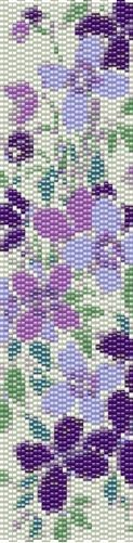 Lost in Paradise Designs Montana Clematis 2 Drop Even Peyote Stitch Digital Download Pattern