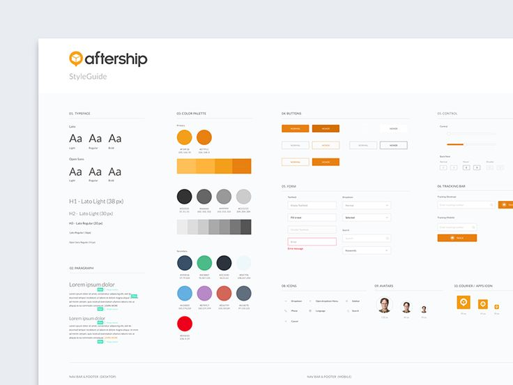 Working on the UI style guide for AfterShip Web, stay tuned :) www.aftership.com