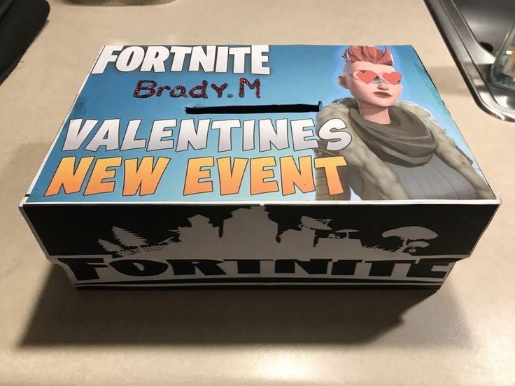 Fortnite Valentines Box For School Party My Kids Stuff