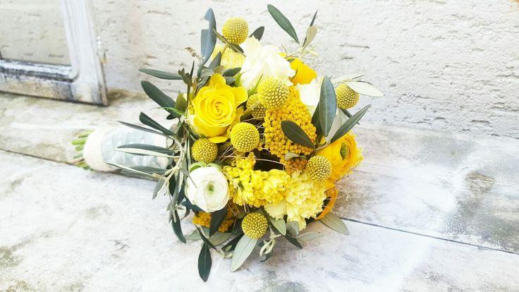 Brautsträuße - Blumenmädchen - Florist - Köln - Hochzeit - Wedding - yellow - sommerstrauß