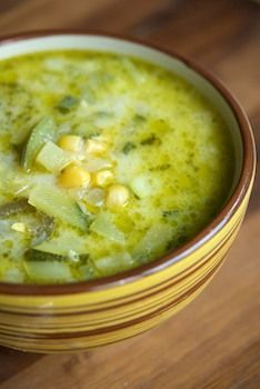 Mexican Zucchini Soup ~  Great served with jalapeño cornbread.