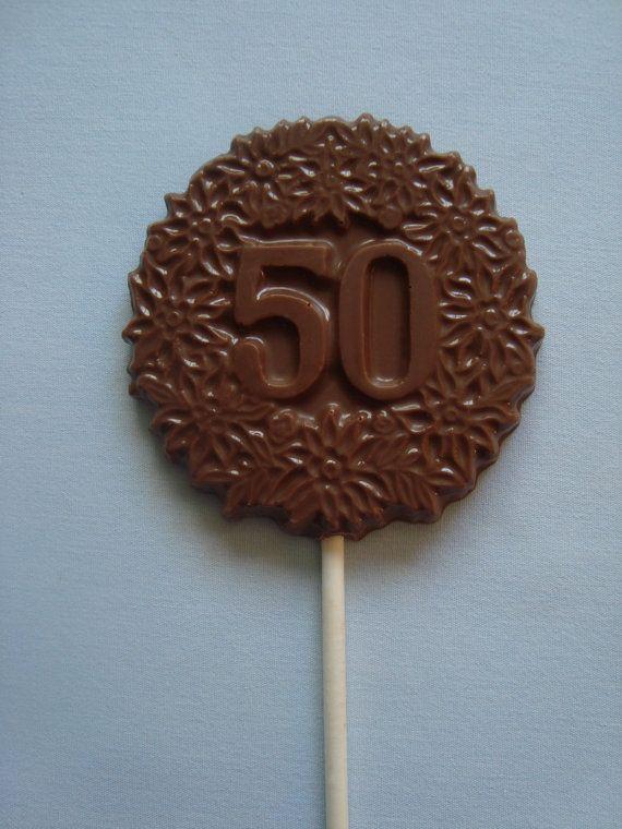 12 Chocolate 50 piruletas quincuagésimo por rosebudchocolates
