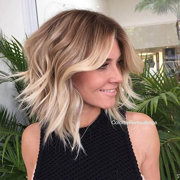 Messy Layered A-Line Bob Haircut