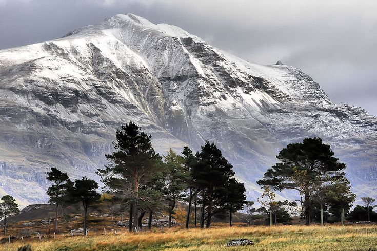 First snow on the Applecross hills - Highlands of Scotland