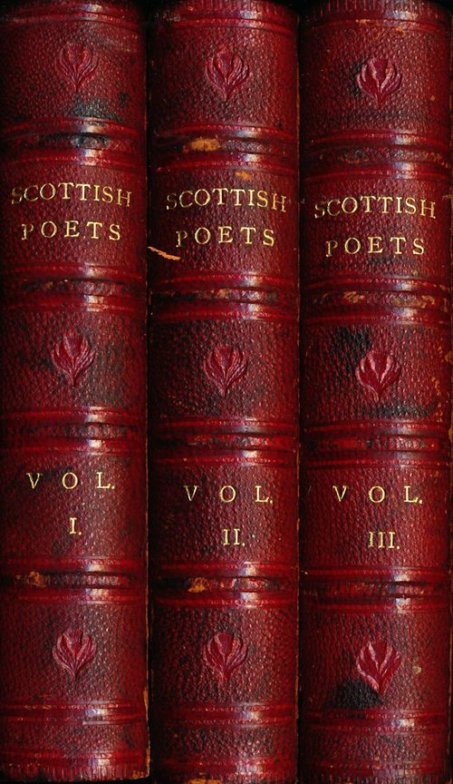 SCOTTISH POETS...Etruscan Red Bound Volumes of  Scottish Poems