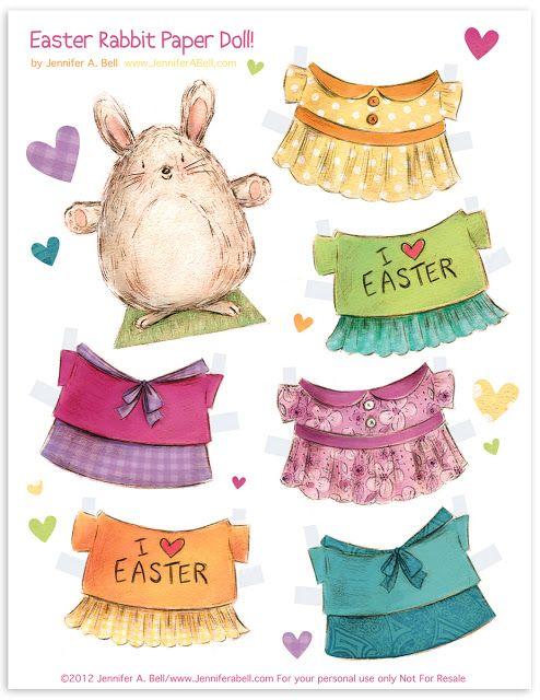 free printable easter egg paper dolls frugal cheap gift idea easter baskets diy tutorial