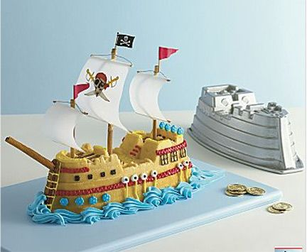 """Avast ye scallywags!  This cute pirate ship cake mold from Nordic Ware is perfect for """"Talk Like a Pirate Day"""" or any other day."""
