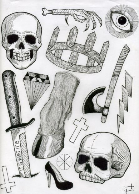 delivermetoevil: Tattoo Flash Sheets by David M. Cook dmcook love this guy's work.