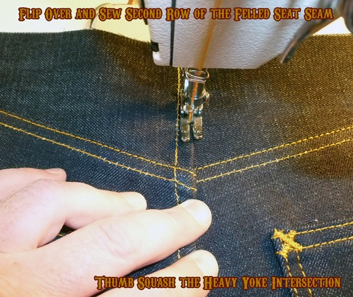 step by step pictures sewing jeans