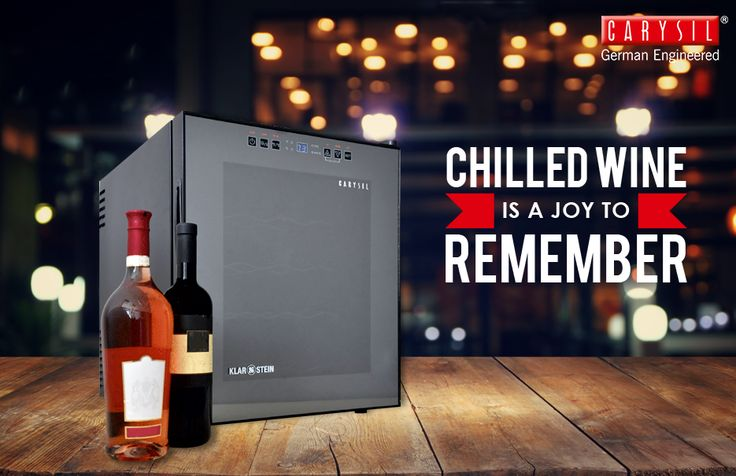 Running out of chilled wine is not an option with Carysil's 28 Bottles Wine Chiller! #CarysilKitchen #WineChiller #Kitchen